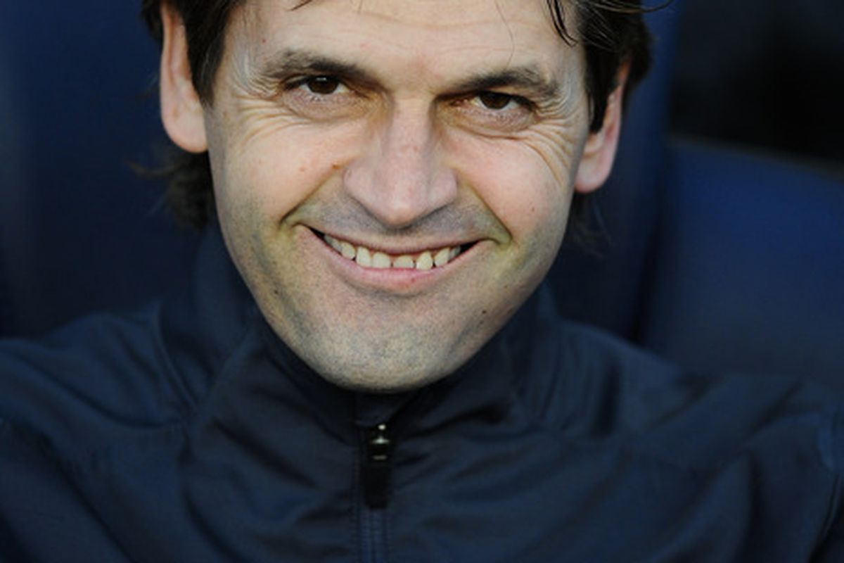 I would probably let out a demented looking smile like this if I was going to be coaching Lionel Messi and co. but my word, this is pretty creepy Tito