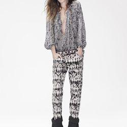 Silk Blouse ($99), Pants ($99), Boots ($299)