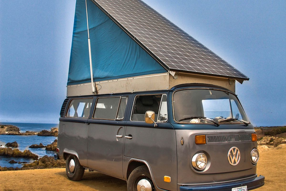 Converted Vans Vintage Volkswagen Bus Converted Into Solar Electric Camper Curbed