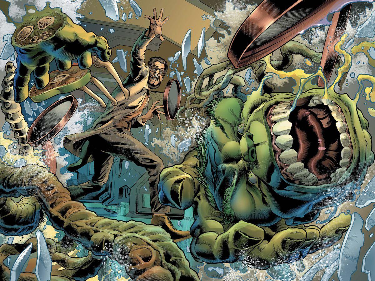 Hulk explodes in Immortal Hulk #8 art by Joe Bennett, Ruy José, Paul Mounts