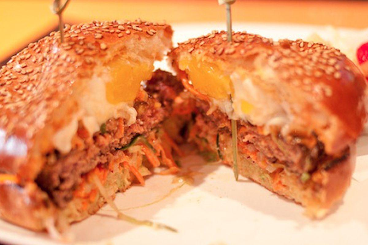 Social Eatz's Bibimbap Burger.