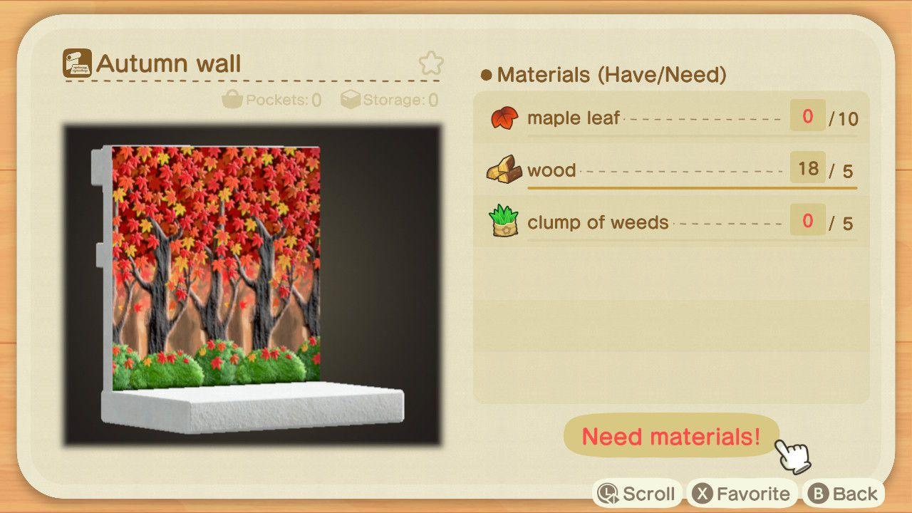 Animal Crossing New Horizons Fall Maple Leaf Diy Recipe List Polygon