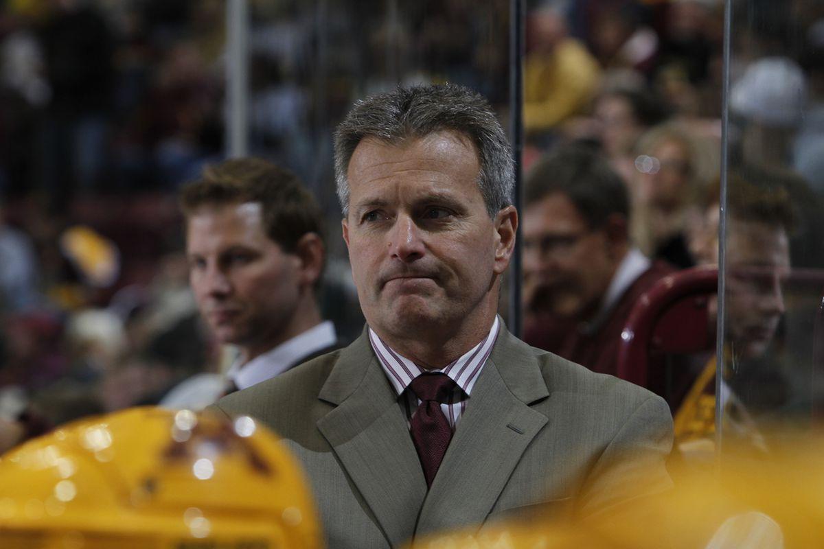 Minnesota head coach Don Lucia
