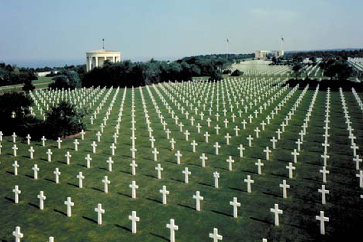 """US Military Cemetery, Normandy, France. Lest we forget.  The 173 acres contains the graves of 9,387 of our military dead, most of whom lost their lives in the D-Day landings or shortly thereafter."""""""