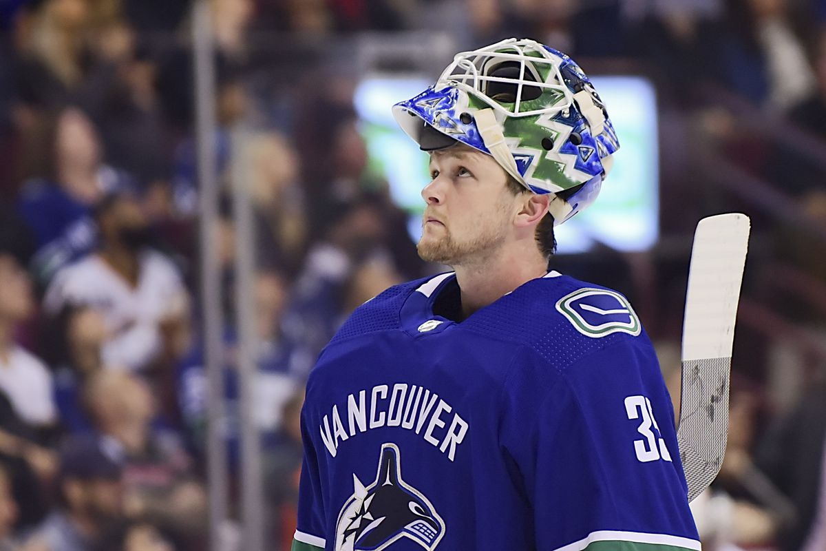 b4d2d60f089 Thatcher Demko is finally about to embark on his NHL career after only one  career start to this point. It starts Friday night against the Buffalo  Sabres.