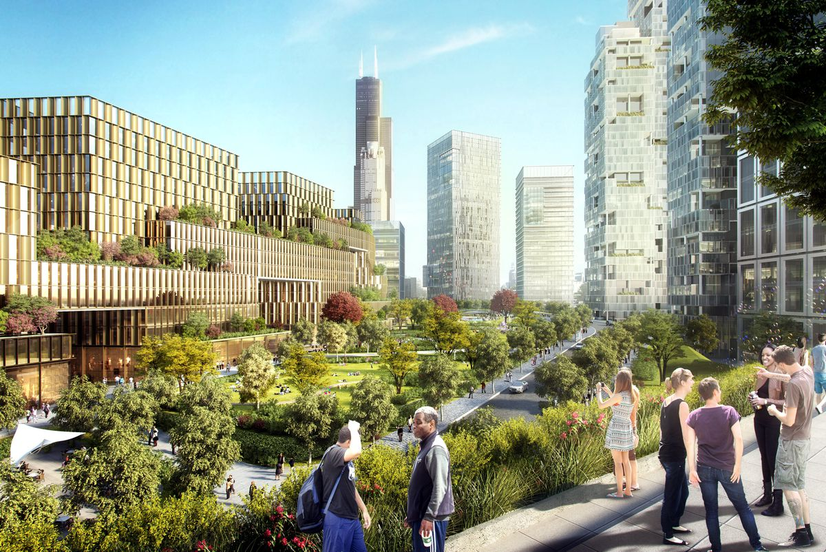 South loop mega development to include new u of i for Innovation consulting firms chicago