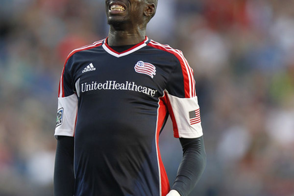 TFC will be hoping for lots of this face from the Revs top scorer.