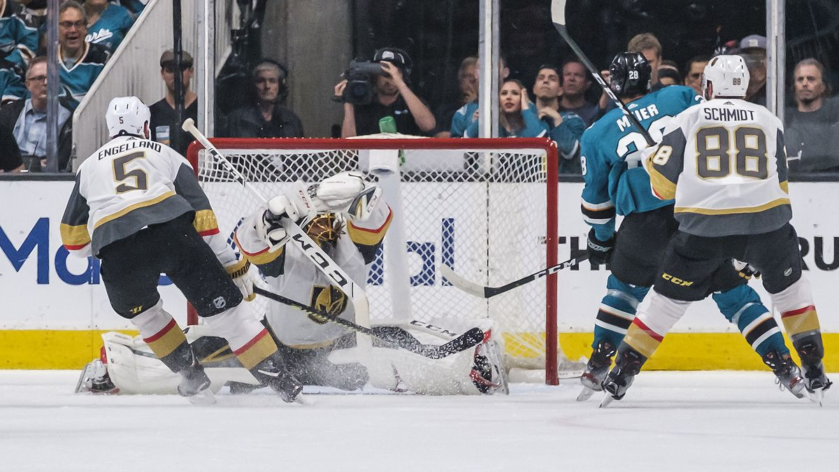 NHL: APR 23 Stanley Cup Playoffs First Round - Golden Knights at Sharks