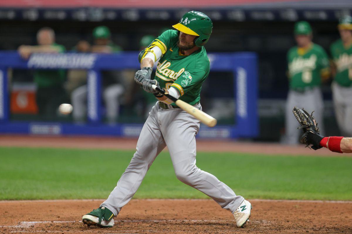 MLB: AUG 10 Athletics at Indians