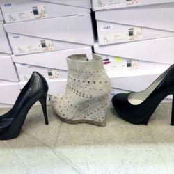 Stuart Weitzman for Scoop heels, $155; Camilla Skovgaard booties, $179.50; Camilla Skovgaard heels, $149.50