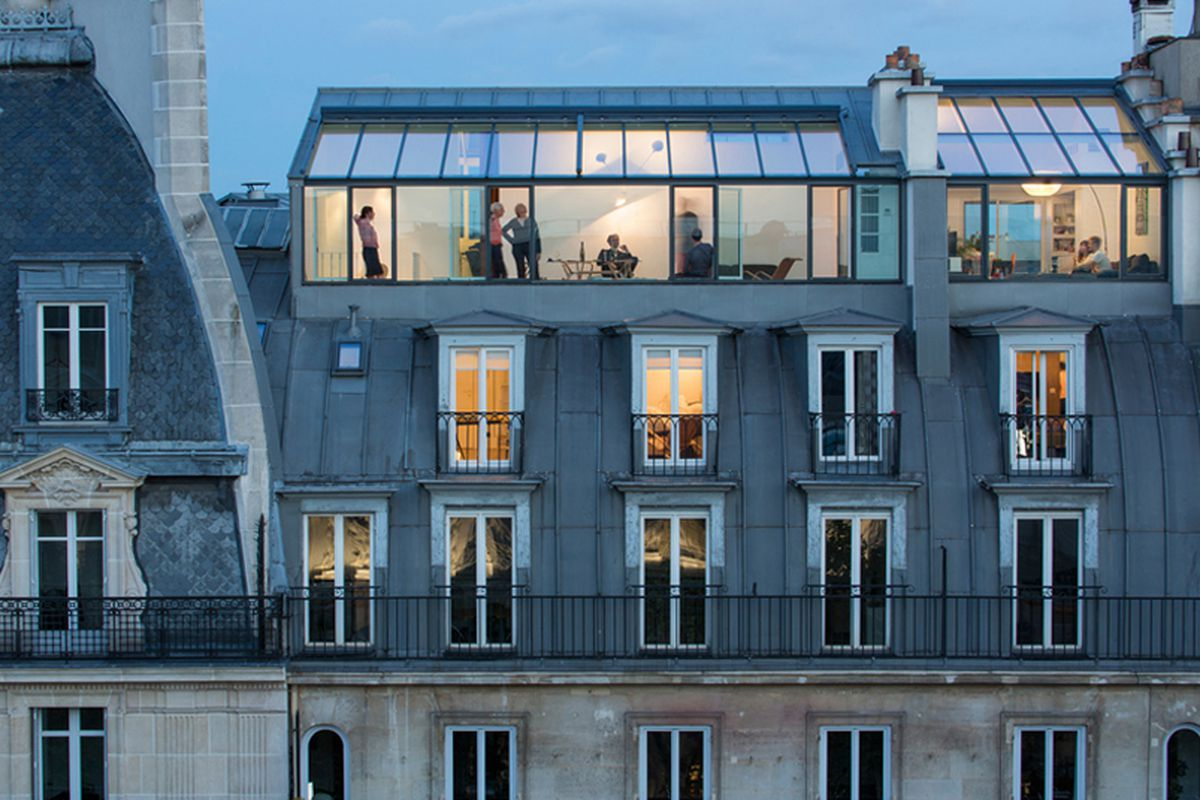 Paris apartments modern and airy used to be a 19th Modern house architect new york