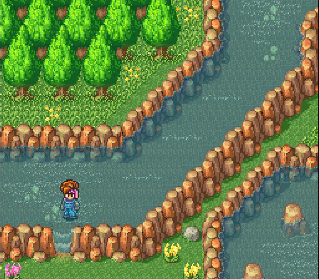 Secret of Mana SNES - walking through water