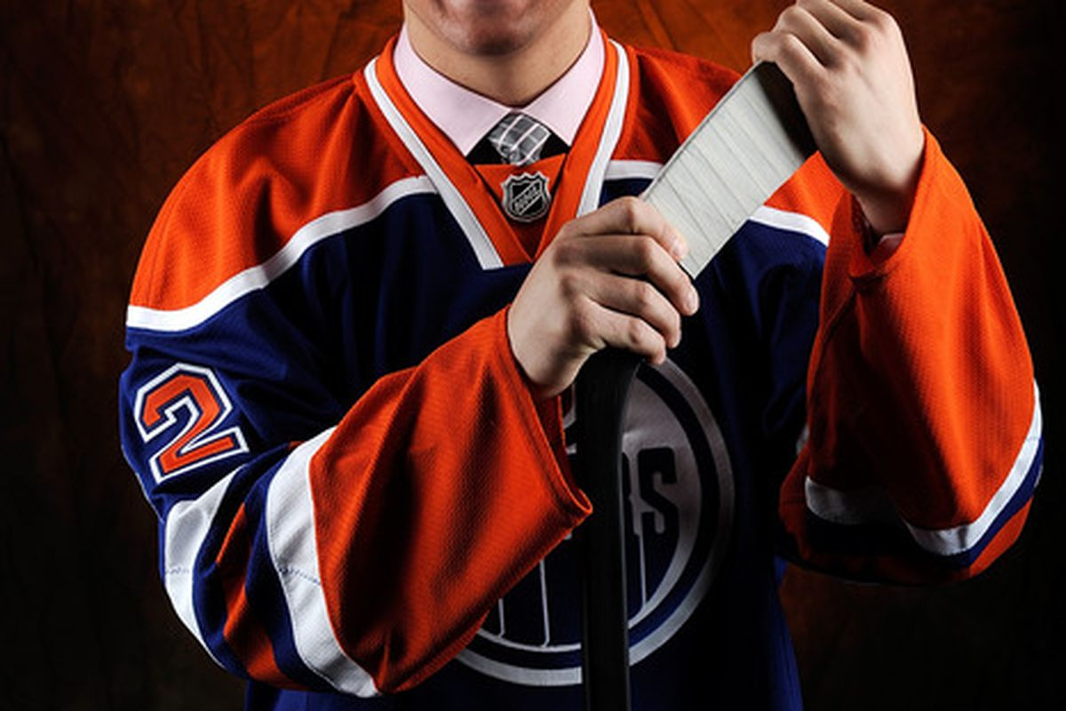 Mitchell Moroz, shortly after being told he may not have to play in Edmonton for long.
