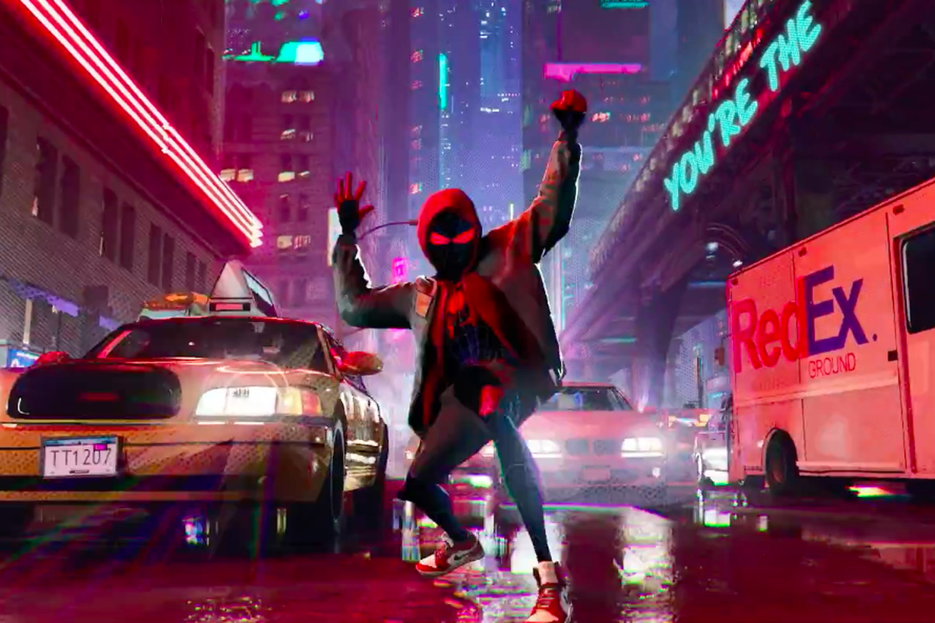 to see this gorgeous new into the spider verse footage you must endure post malone