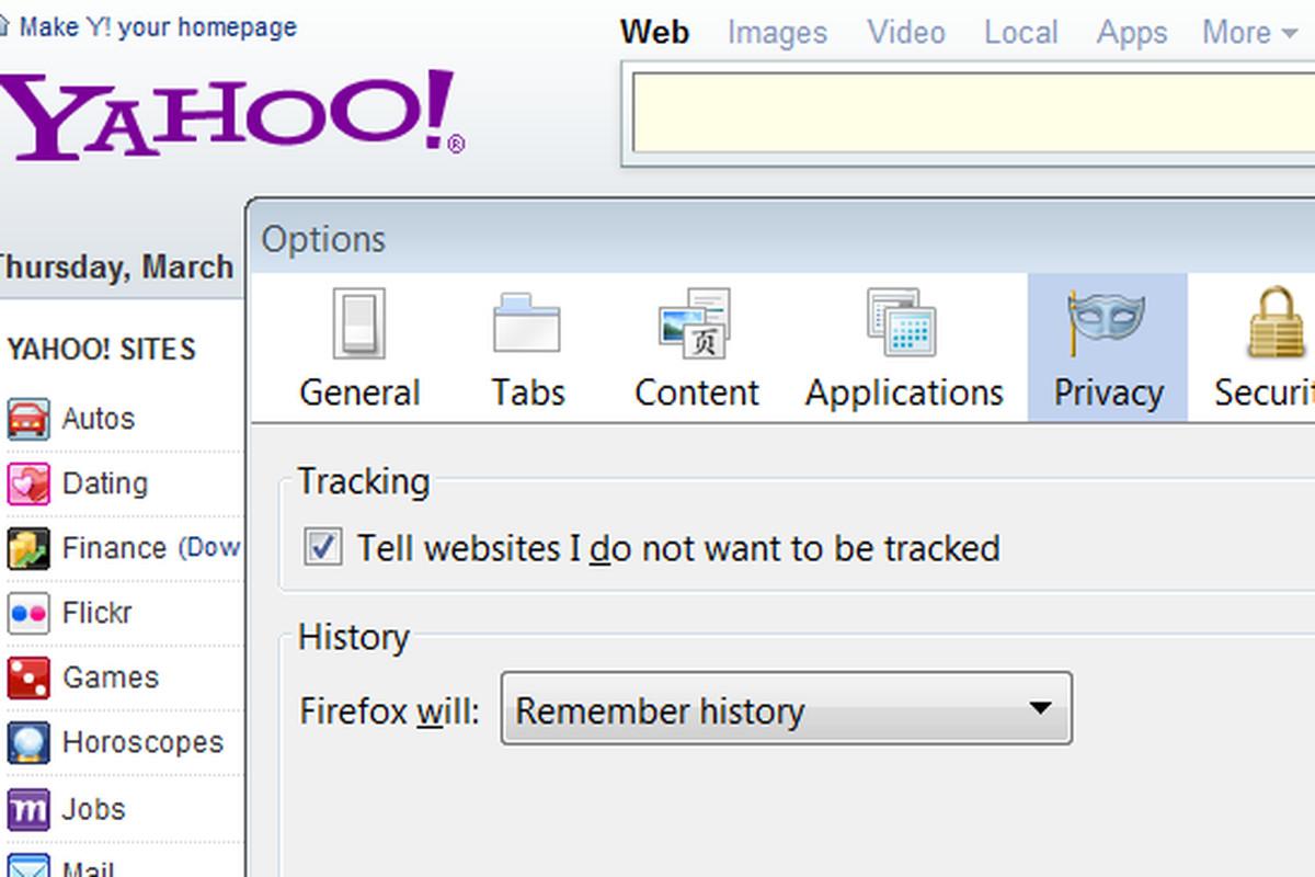Yahoo Do Not Track