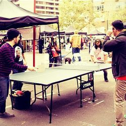 """A ping pong contest happened [Photo via <a href=""""http://instagram.com/p/PaX5MWMp-H/"""">Connected Fest</a>]"""
