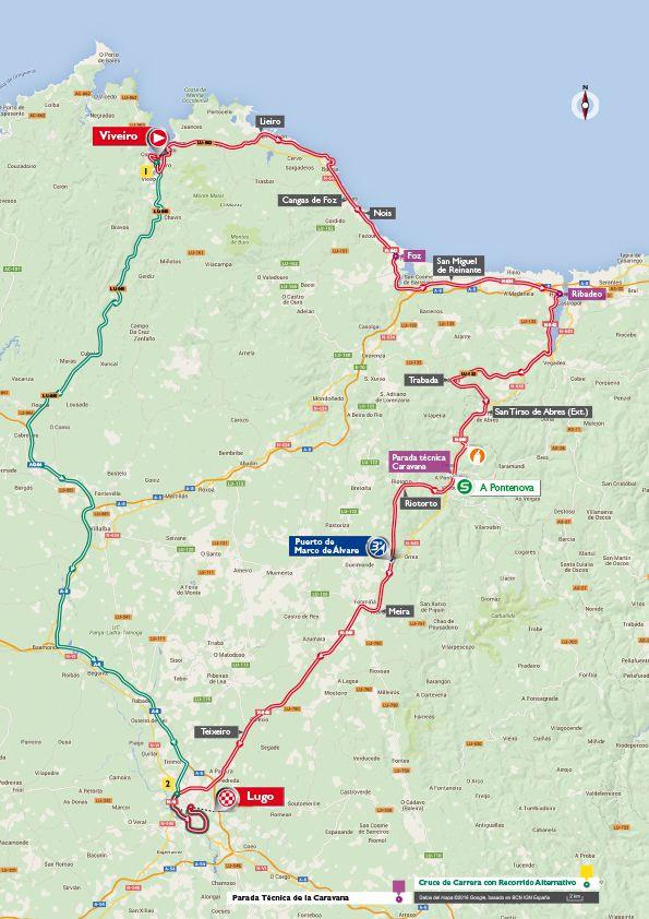 Stage 5 vuelta map