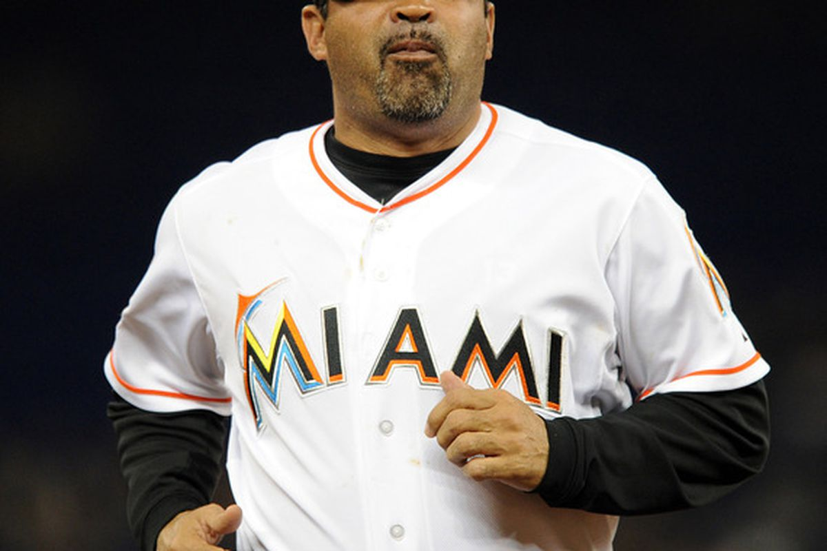 Ozzie Guillen is the proud manager of the most average team in baseball thus far this season. Mandatory Credit: Steve Mitchell-US PRESSWIRE
