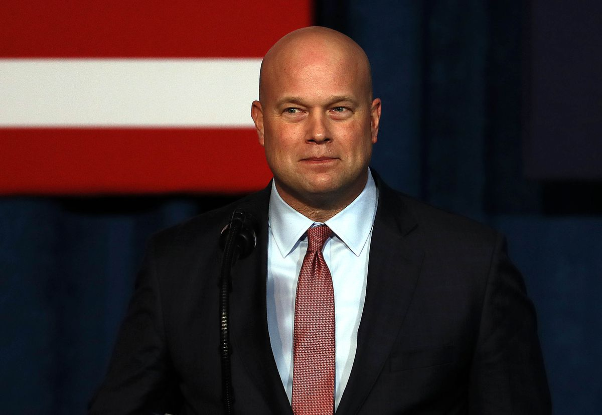 Acting Attorney General Matthew Whitaker addresses the Project Safe Neighborhoods National Conference on December 07, 2018 in Kansas City, Missouri.