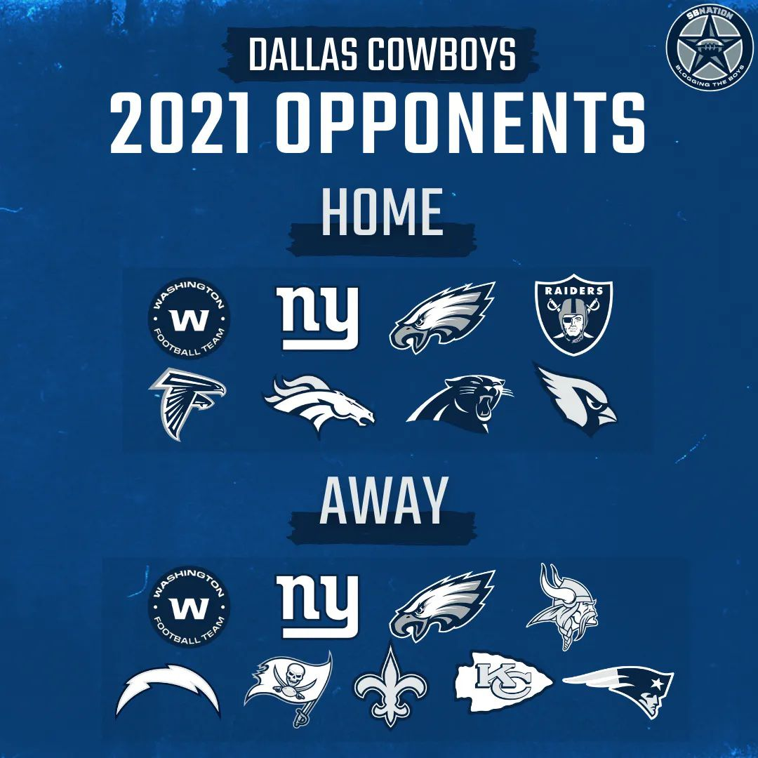 The 2021 Nfl Schedule Will Officially Be Released On May 12th Blogging The Boys