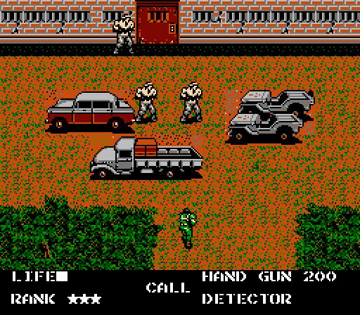 Metal Gear (NES) - Snake approaching vehicles