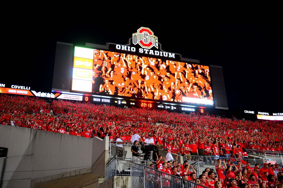 The Support Of Block O Student Sections In Ohio Stadium Is One Longest Enduring Football Traditions At State University