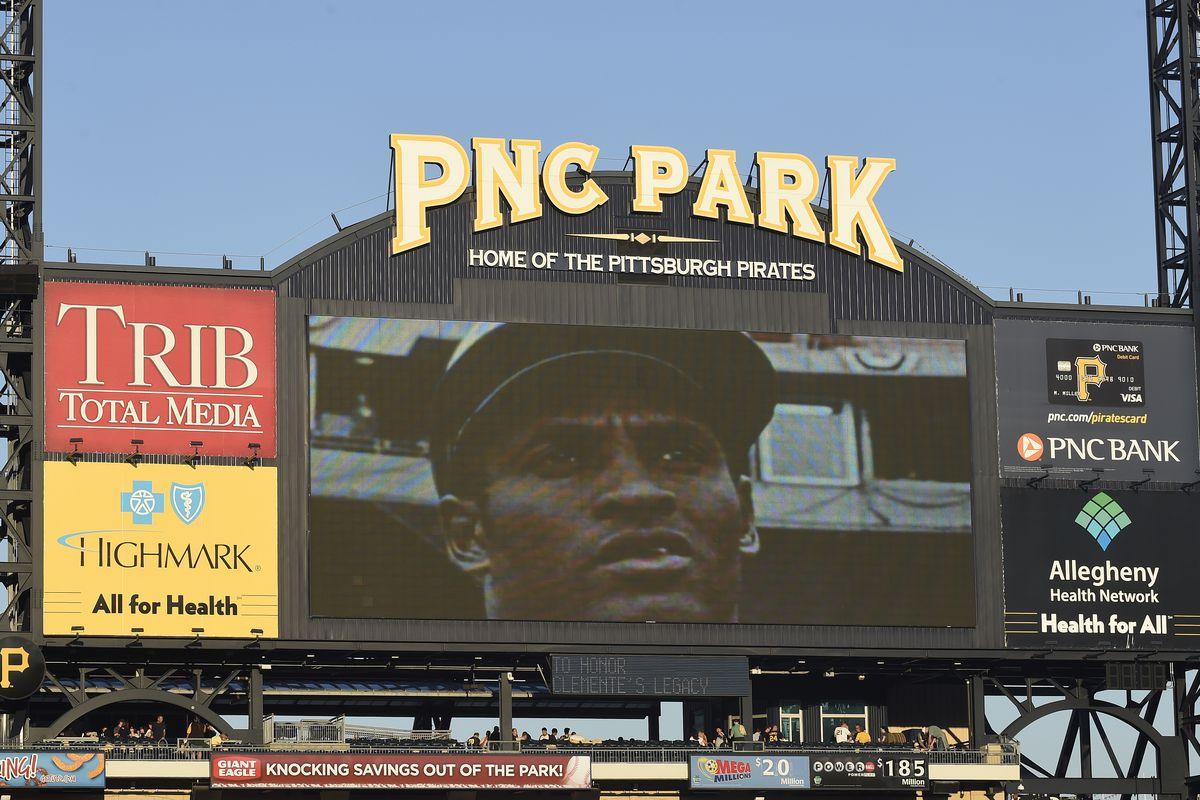 Roberto Clemente on PNC Park scoreboard