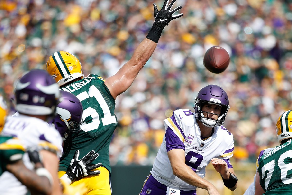 packers vikings film room showing blitz on third down acme