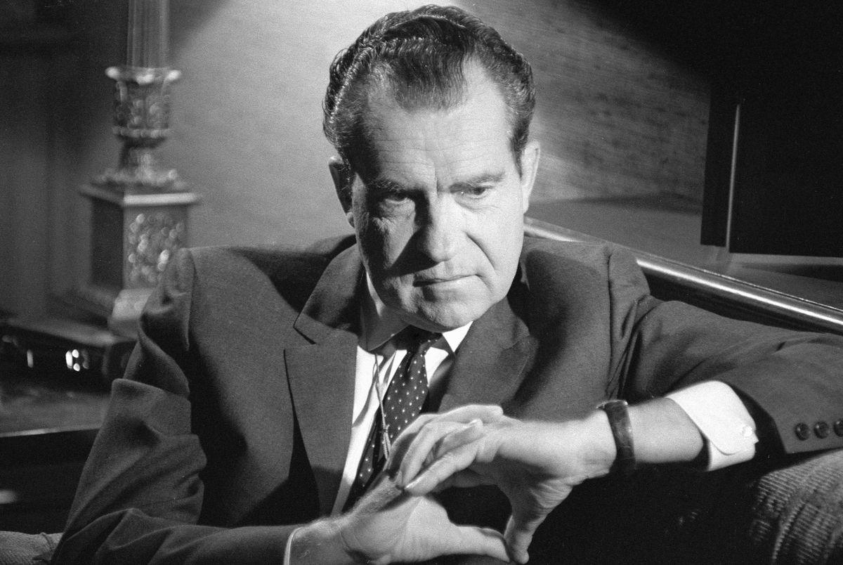 Richard Nixon scheming