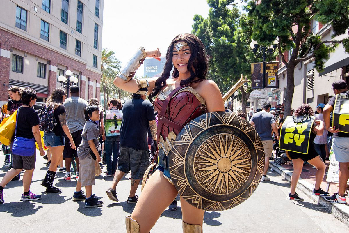 The popularity of Wonder Woman cosplay at Comic-Con is a message to