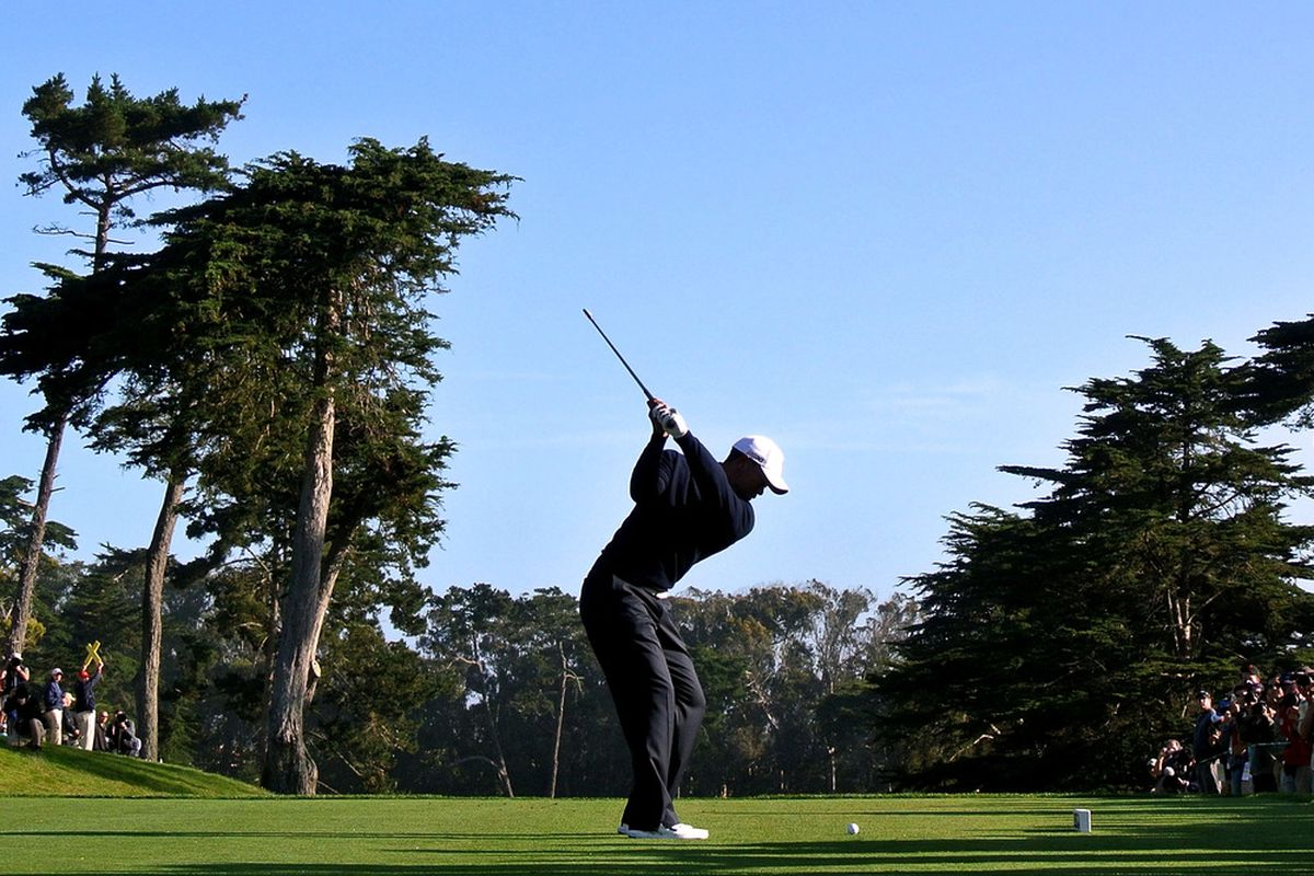 My backswing is the opposite of the above.  (Photo by Andrew Redington/Getty Images)