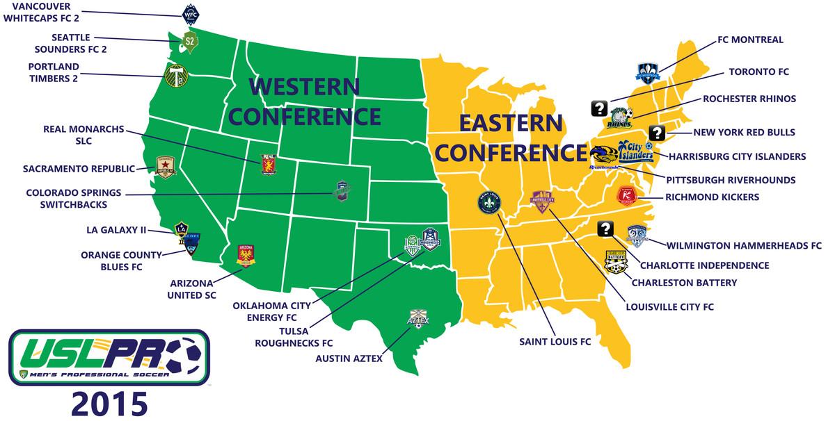 2015 USL Map