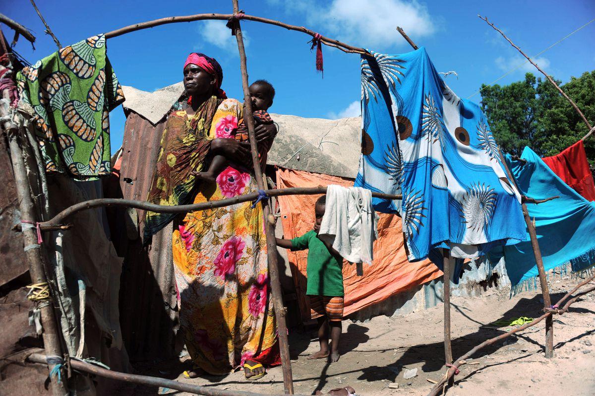 Somalia IDP family