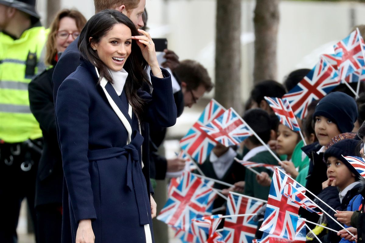 Meghan Markle with crowd of people