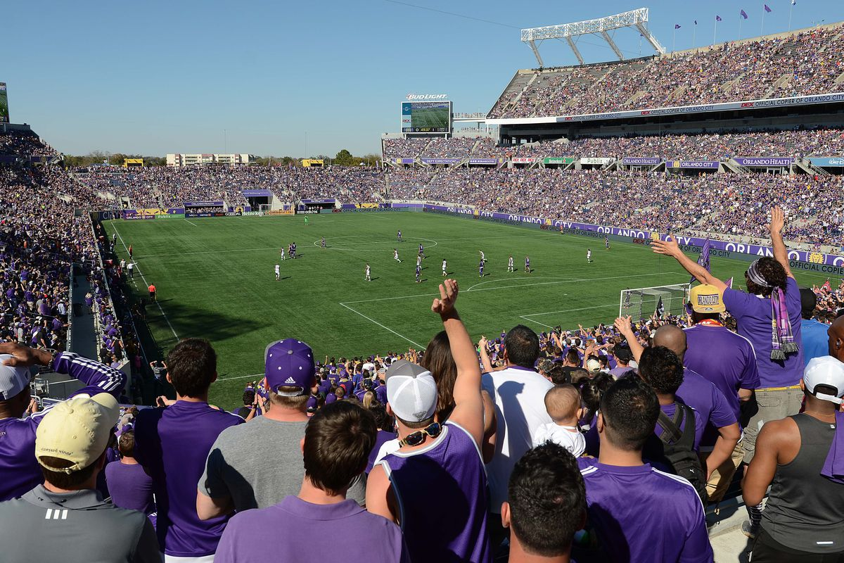 Orlando City at its current home, the Citrus Bowl.