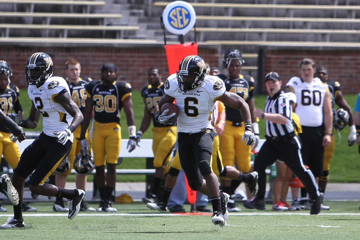 If Marcus Murphy turns out to be as good as he looked in the 2011 spring game, the ceiling for Mizzou's offense gets a lot higher.