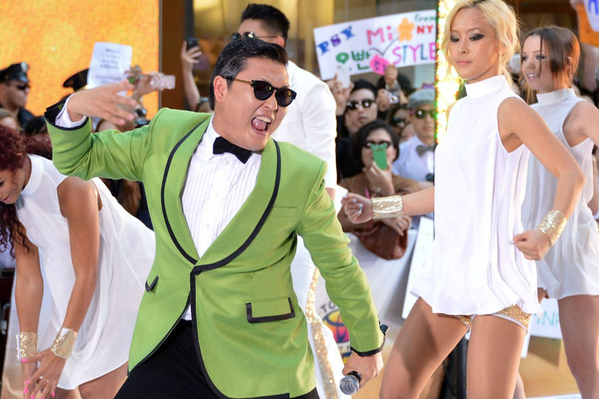 Psy performing on The Today Show Friday. Photo via Getty Images.
