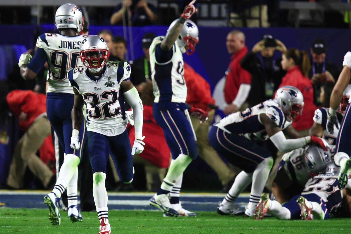 Former Rutgers star Devin McCourty celebrates the Super Bowl XLIV victory in February