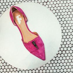 "<b>Belle by Sigerson Morrison</b> Silvia in pink, <a href=""http://www.bellenyc.com/SILVIA-p-19981-b-65607-col-269-cat.html#.UynC9q1dVr0"">$225</a>"