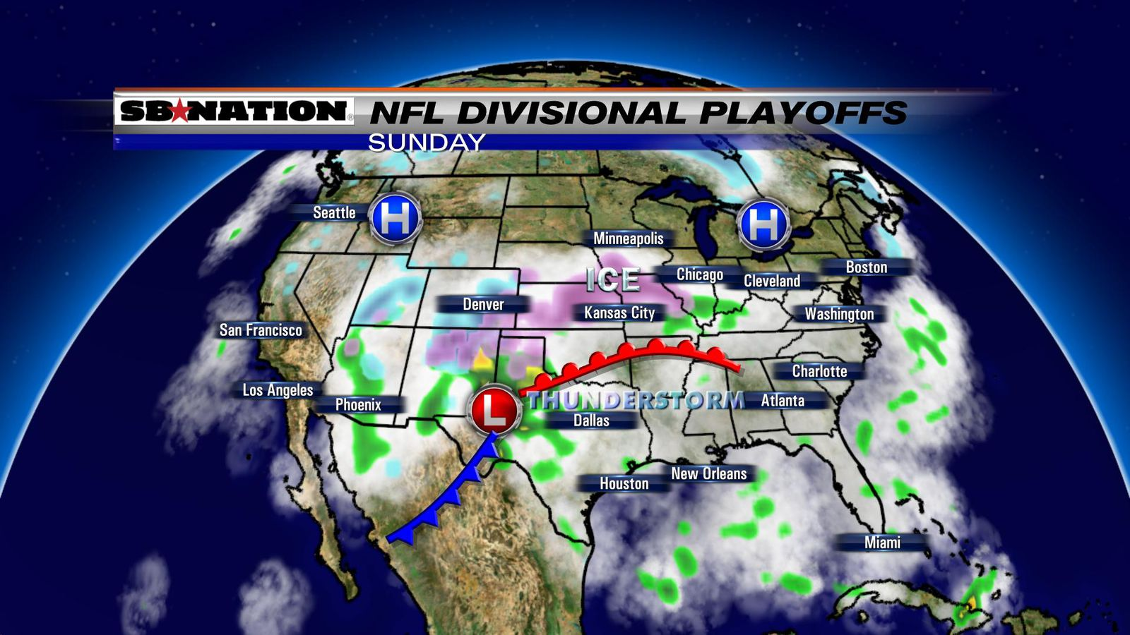 nfl weather forecast  divisional playoffs 2017  ice storm