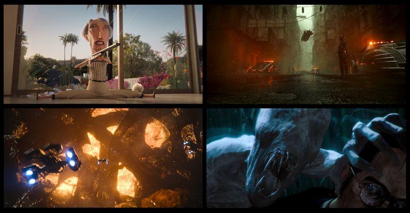 a bunch of different sci-fi stills