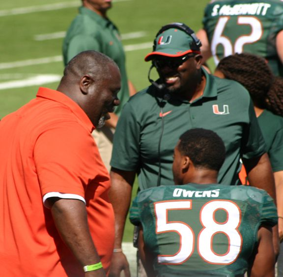 Russell Maryland, Hurlie Brown and Darrion Owens
