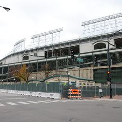 11:34 a.m. Another view of the ballpark, at Addison and Sheffield -