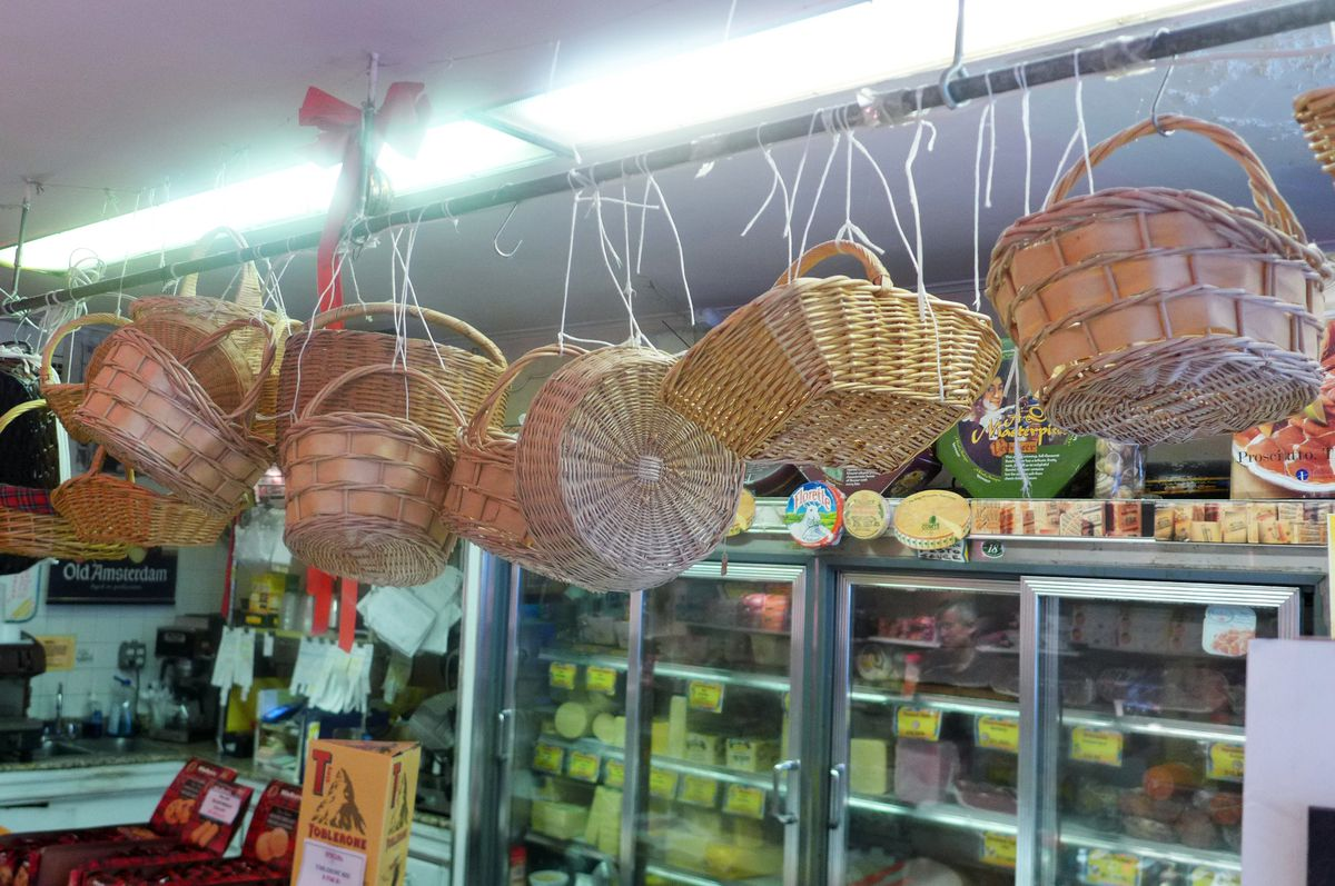 Lamazhou is decorated with baskets