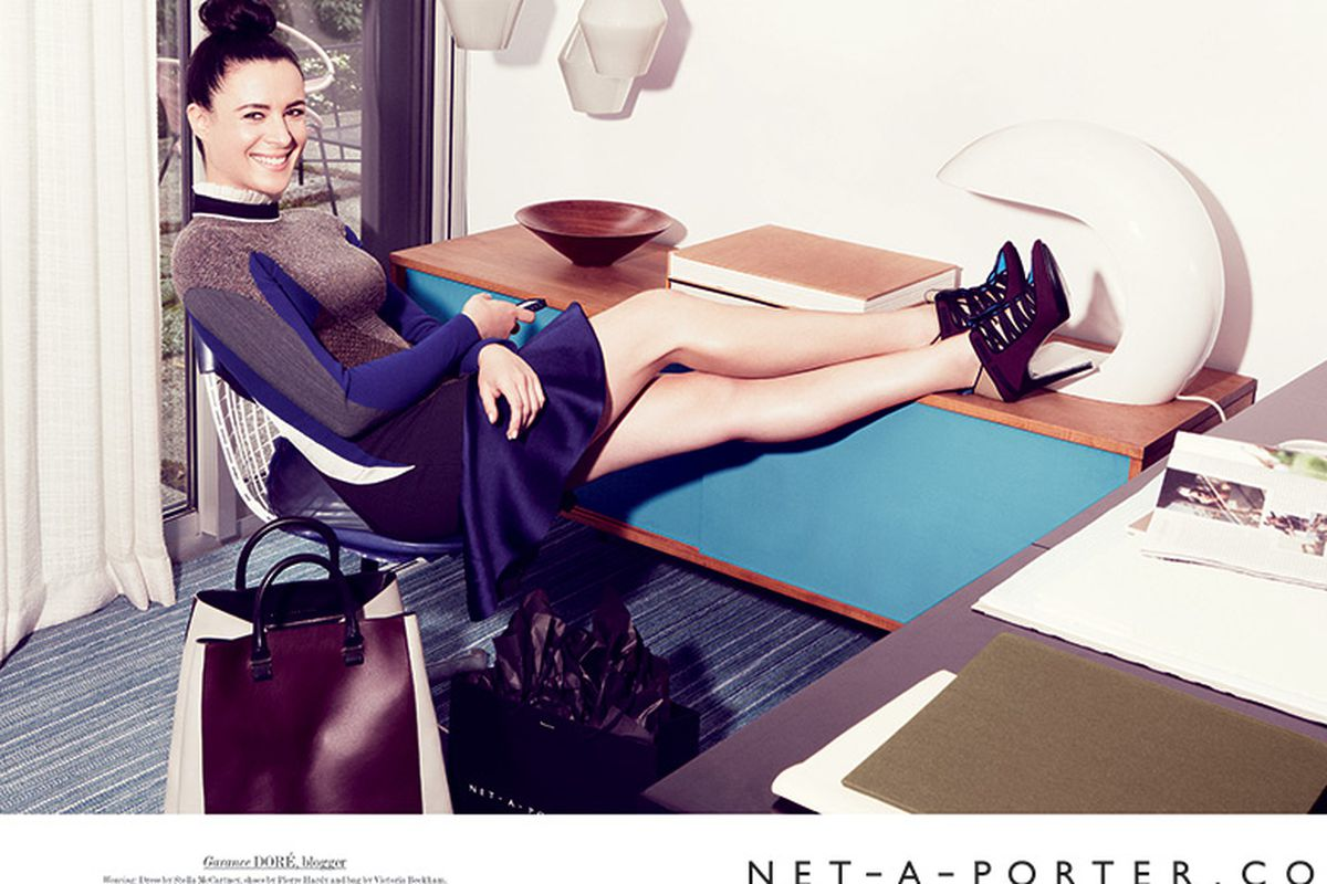 Garance Dore (and her legs), shot by Patrick Demarchelier