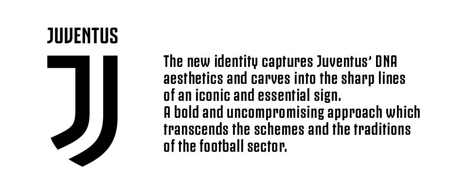 officially official for some reason juventus unveils a new logo black white read all over officially official for some reason