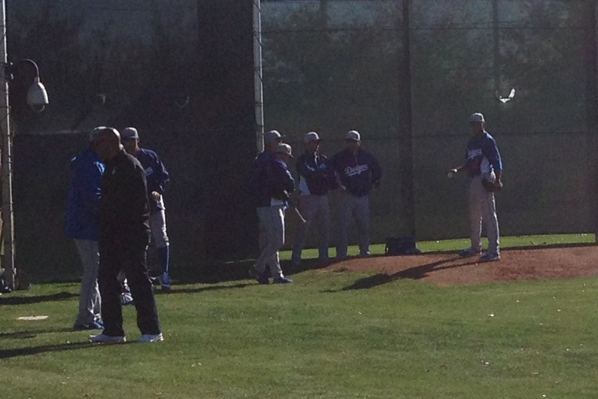 Angel Sanchez was one of several pitchers to receive instruction from Sandy Koufax during spring training.