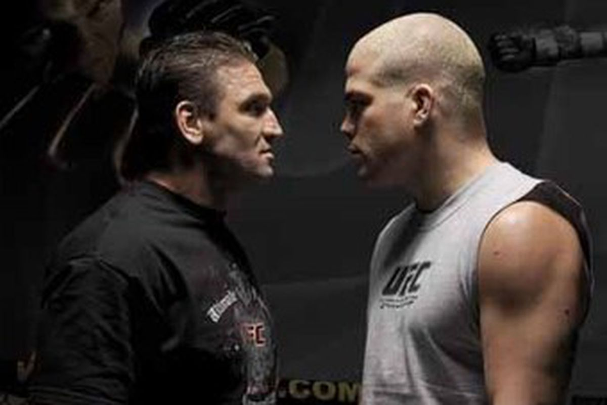 history in the making tito ortiz and ken shamrock look to scratch