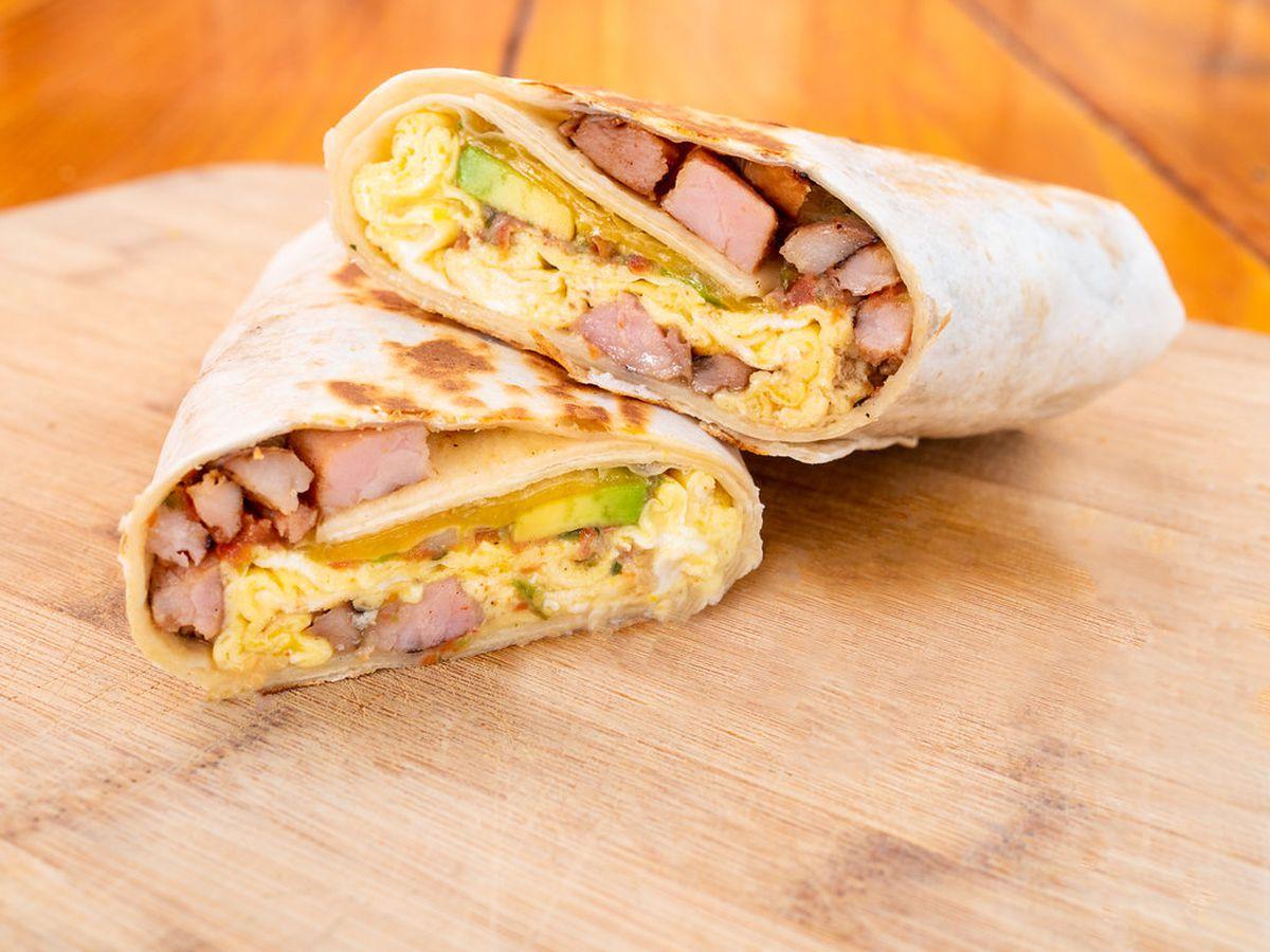 Fried Egg I'm In Love's meaty breakfast burrito