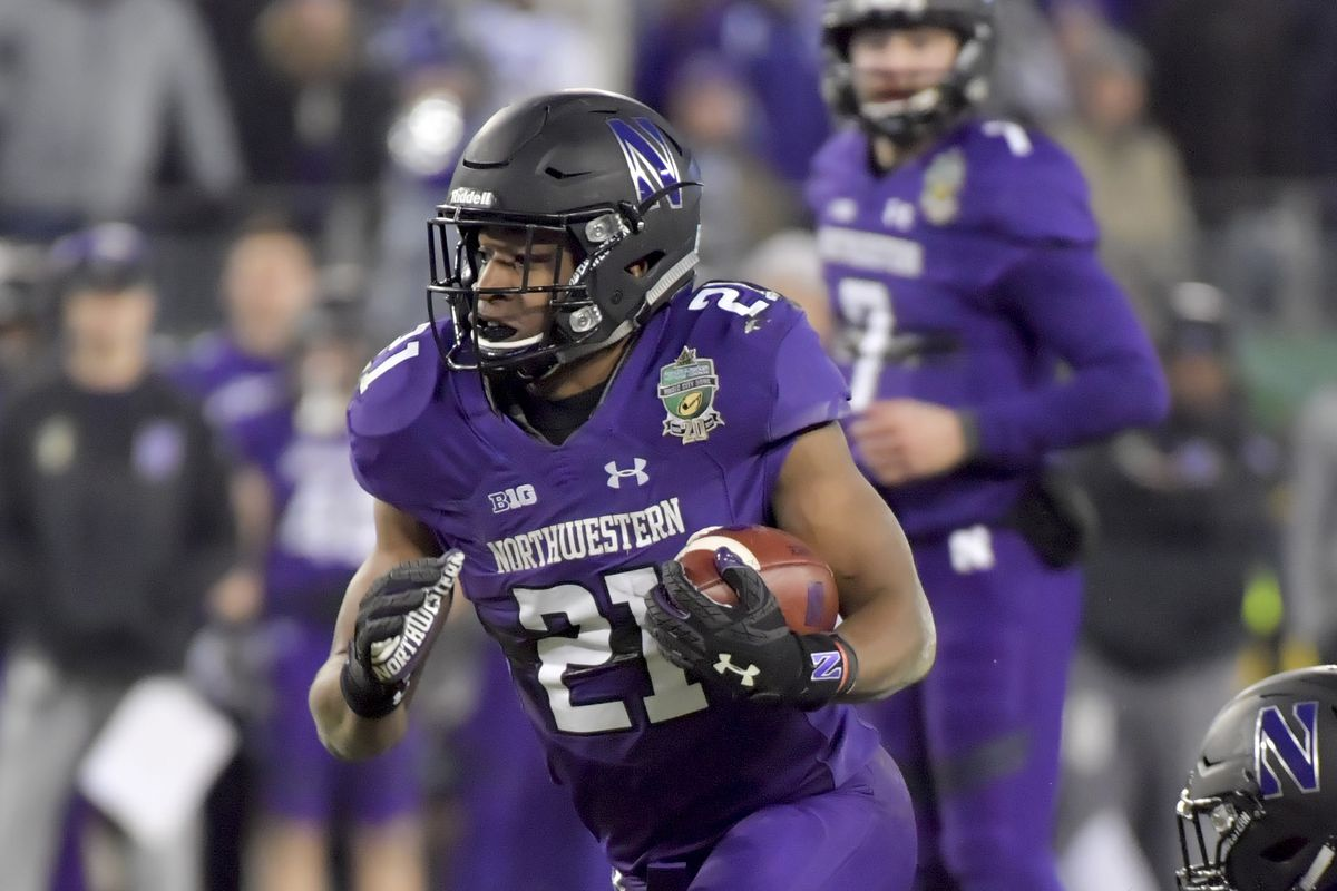 Northwestern Wins Music City Bowl RB Justin Jackson Powers NW To Win Over Kentucky SBNation com